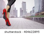blurred city background and... | Shutterstock . vector #404622895