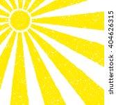 yellow sun background. hand... | Shutterstock .eps vector #404626315