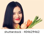 young healthy asian woman with...