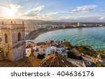 view on peniscola  from the top ... | Shutterstock . vector #404636176