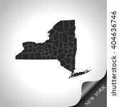 map of new york | Shutterstock .eps vector #404636746