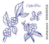 coffee beans on trees | Shutterstock .eps vector #404640526
