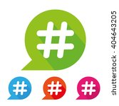 hashtag icon and long shadow | Shutterstock .eps vector #404643205