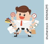 businessman with multitasking... | Shutterstock .eps vector #404646295