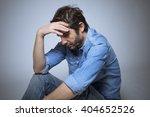 Depressed Man Studio Shot