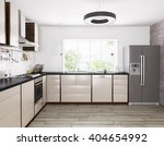 interior of modern kitchen ... | Shutterstock . vector #404654992