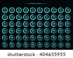 collection of vector icons with ... | Shutterstock .eps vector #404655955