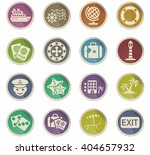 cruise web icons for user... | Shutterstock .eps vector #404657932