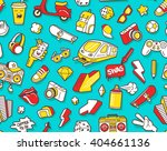 graffiti seamless pattern with... | Shutterstock .eps vector #404661136