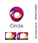 circle logo. transparent... | Shutterstock .eps vector #404676682