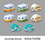rv campers collection. 3d...   Shutterstock .eps vector #404676988