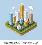 skyscrapers and buildings in... | Shutterstock .eps vector #404691262