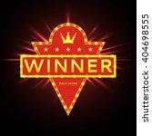 retro banner of winner with... | Shutterstock .eps vector #404698555