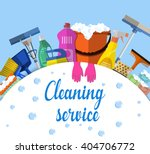 cleaning service flat... | Shutterstock .eps vector #404706772