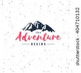 the adventure begins vintage... | Shutterstock .eps vector #404710132