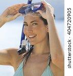 a woman snorkeling | Shutterstock . vector #404720905