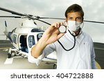 a doctor standing by a... | Shutterstock . vector #404722888