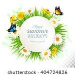 happy summer holidays... | Shutterstock .eps vector #404724826
