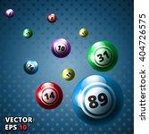 lottery balls bingo vector...   Shutterstock .eps vector #404726575