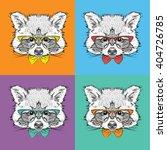 Image Portrait Of Raccoon In...