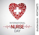international nurse day... | Shutterstock .eps vector #404726875