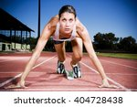 portrait of female athlete in... | Shutterstock . vector #404728438