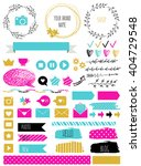 blog design set with ribbons ... | Shutterstock .eps vector #404729548