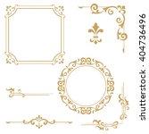 vintage set. floral elements... | Shutterstock .eps vector #404736496