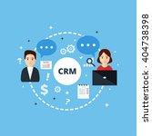 customer relationship...   Shutterstock .eps vector #404738398