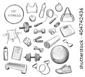 collection freehand drawing... | Shutterstock .eps vector #404742436