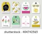 summer gift tags and labels...   Shutterstock .eps vector #404742565