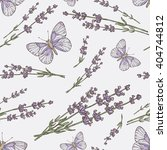 seamless with lavender and... | Shutterstock .eps vector #404744812