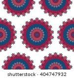 hand drawn mandala seamless... | Shutterstock .eps vector #404747932