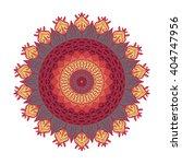 hand drawn mandala in arabic ... | Shutterstock .eps vector #404747956