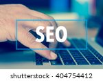 technology concept  seo | Shutterstock . vector #404754412