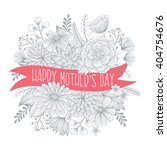 happy mothers day vector floral ... | Shutterstock .eps vector #404754676