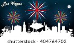 las vegas usa skyline... | Shutterstock .eps vector #404764702