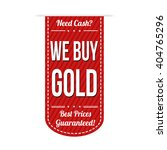 we buy gold banner design over... | Shutterstock .eps vector #404765296