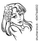 a monochrome vector drawing of... | Shutterstock .eps vector #404766832