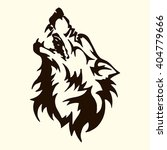wolf tattoo.the wolf bares his... | Shutterstock .eps vector #404779666
