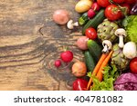 collection of mixed organic...   Shutterstock . vector #404781082