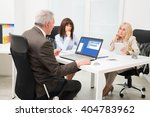 group of business people at... | Shutterstock . vector #404783962