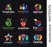 kids and family logo set | Shutterstock .eps vector #404795476