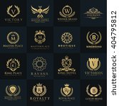 luxury and crest logo... | Shutterstock .eps vector #404795812