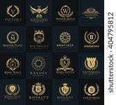 crests logo hotel logo set... | Shutterstock .eps vector #404795812