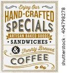 vintage menu background   retro ... | Shutterstock .eps vector #404798278