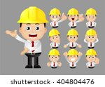 cute set   set of engineer | Shutterstock .eps vector #404804476