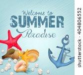 marine life elements. summer... | Shutterstock . vector #404806552