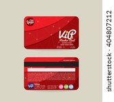 front and back vip member card... | Shutterstock .eps vector #404807212