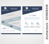 business brochure a4 flyer... | Shutterstock .eps vector #404808448